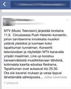 MTV Push Helsinki – minne rahat katosivat?
